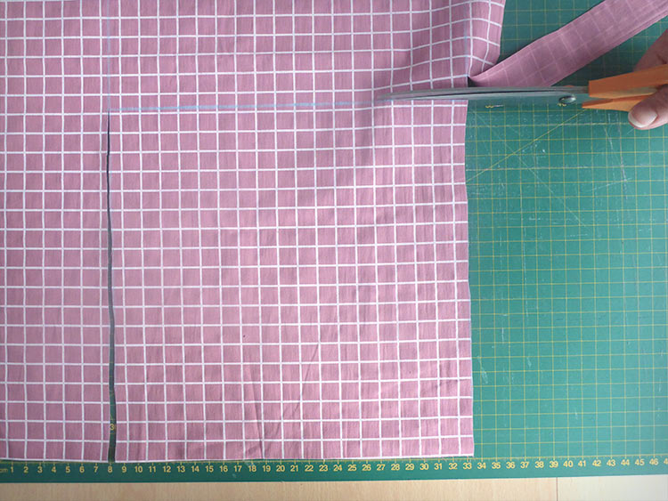 キルトスローピローの作り方:ポスト2:デザイン&カット