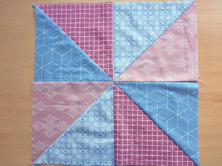 キルトスローピローをハンドメイドで: ポスト 3: フロントを縫う